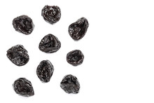 Dried Plum - Prunes Isolated O...