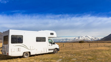 Motorhome On Campsite. Can Use...