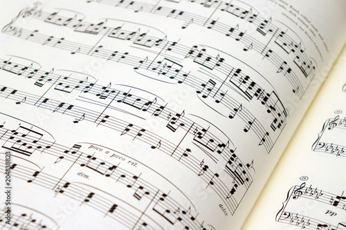 Obraz na plátně Sheet Music - Partitions - Partituras