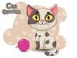 Cute Cartoon Cat Characters. Vector Illustration Cartoon styled.