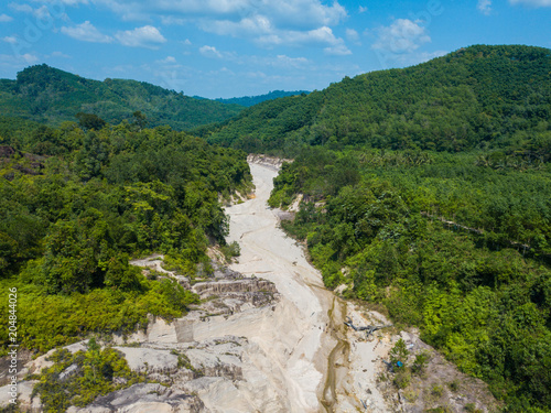 Tuinposter Luchtfoto Aerial view landscape of canyon at grand canyon Kapong, Phang nga