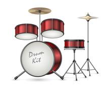 Drum Kit Realistic Vector Illu...