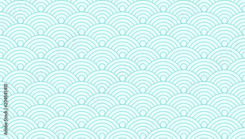 Pattern Seamless Circle Abstract Wave Background Green Aqua Color