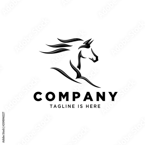 Leinwand Poster Fast speed horse logo