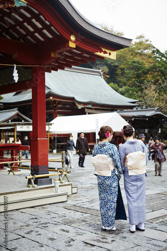 Deurstickers Asia land kimono