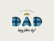 Happy Fathers Day Greeting Card Design