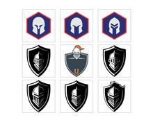 Knight Headgear Armor Shield R...