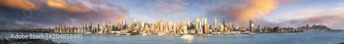In de dag New York City New York panoramic