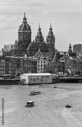 Photo  City of Amsterdam in the Netherlands