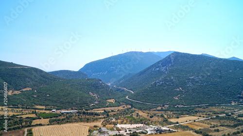 Keuken foto achterwand Lichtblauw mountain landscape