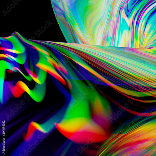 Foto op Aluminium Abstract wave spectrum
