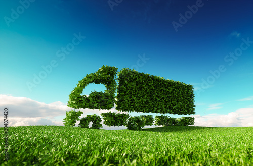 Leinwand Poster Eco friendly transportation concept