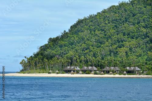 Spoed Foto op Canvas Eiland Landscape of a tropical pacific island in Fiji