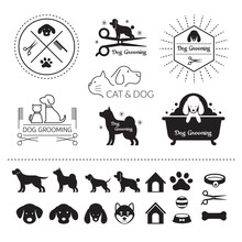 Pets, Cats And Dogs Logo, Symb...