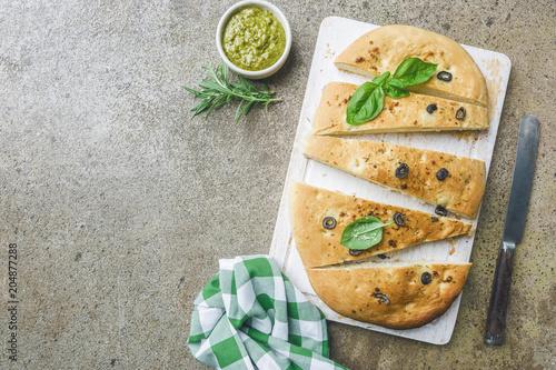 Keuken foto achterwand Traditional Italian Focaccia