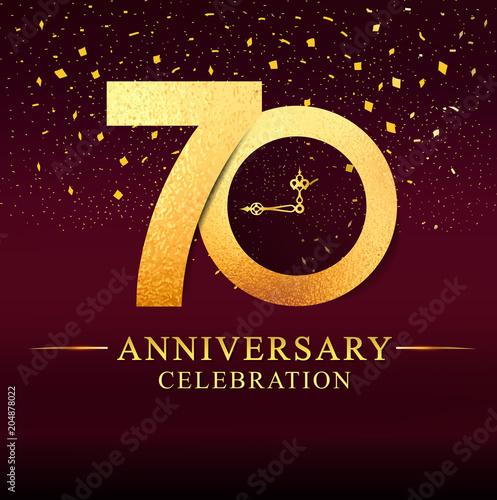 Fototapeta 70 years anniversary