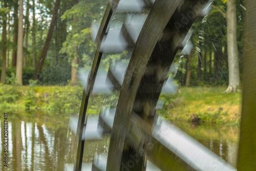 Blurred paddle wheel