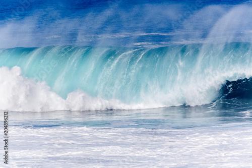 Foto op Plexiglas Water forte déferlante bleue