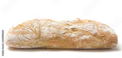 Carta da parati Ciabatta Bread on a White Background