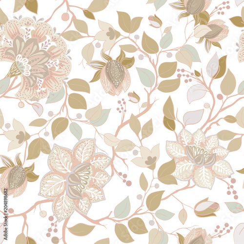 Fotografie, Obraz  Light floral pattern