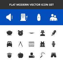 Modern, Simple Vector Icon Set With Jewelry, Instrument, Accessory, Man, Time, Equipment, Hour, Health, White, Engineering, Up, Celebration, Medical, Human, Gas, Alarm, Care, Necklace, Lifestyle Icons