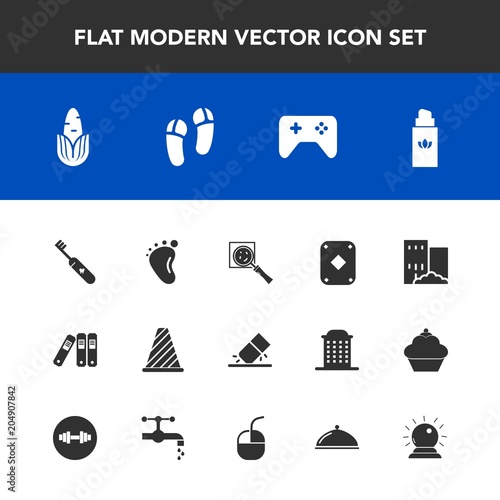 Modern Simple Vector Icon Set With Bottle Child Eraser Food Brush Poker Corn Rubber Fresh File Aroma Healthy Health Beauty Play Newborn Search Perfume Game Traffic Street Icons Buy This Stock