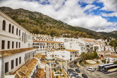 Foto op Aluminium Europese Plekken cascade in Mijas, Spain