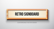 Vector Retro Signboard Or Ligh...