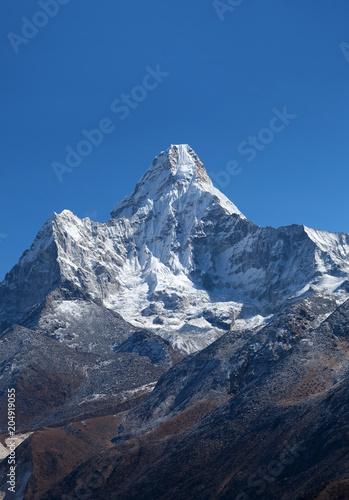 Ama Dablam Mount view from Sagarmatha National Park, Everest region, Nepal Poster