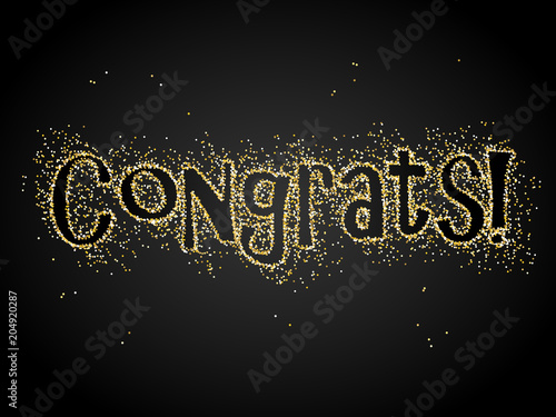 Photo  CONGRATS! Gold Glitter Banner