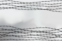 Barbed Wire Fencing. Fence Mad...