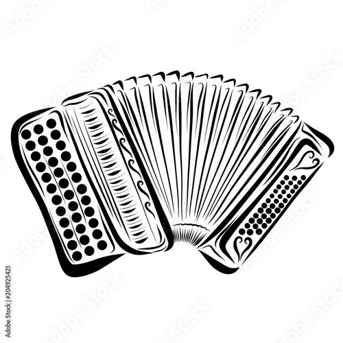 rysunkowy-akordeon-z-przyciskami-na-bialym-tle