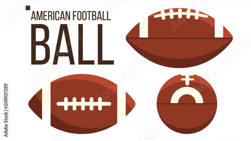 Fotografie, Tablou  American Football Ball Vector