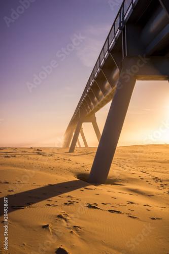 Poster Bridges coucher de soleil sur le pont