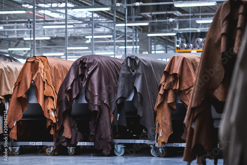 Fotografía Production of leather furniture