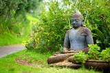 Buddha statue at the Alii Kula Lavender Farm on Maui, Hawaii