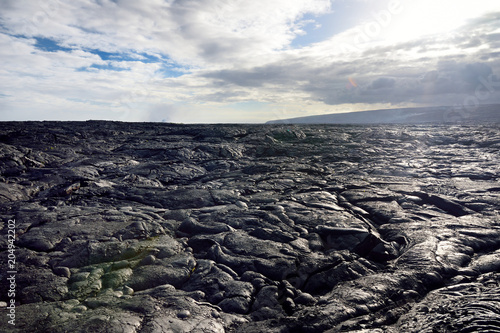 Fotografiet  Endless lava fields of the Big Isalnd of Hawaii