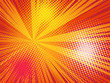 canvas print picture - Comics pop art style background. Rays and halftone dot.