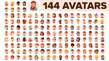 People Avatar Set Vector. Man,...