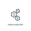 Fintech industry Line icon. Simple element illustration