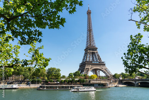 Deurstickers Centraal Europa Beautiful view of the Eiffel tower, Paris. France