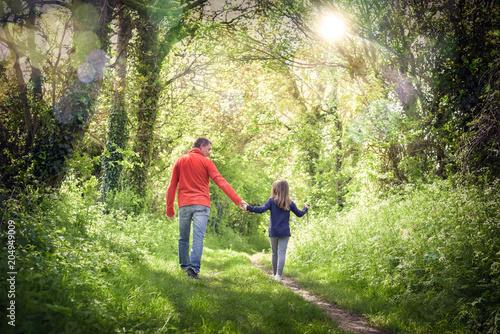 Obraz na plátně promenade avec son papa
