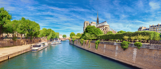 Notre Dame Cathedral in Paris in Spring