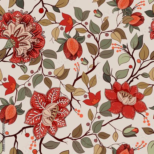 Colorful floral pattern Tapéta, Fotótapéta