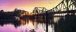Die Glienicke Brücke bei Sonnenuntergang