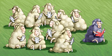 The Sheep Black Law Doesn't Use The Jail Cell Differences In Our Society Conceptual Illustration