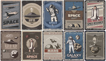 Vintage Colored Space Posters