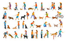 People With Dogs Graphic Colle...