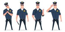 Police Officer Vector Set. Fun...
