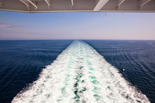Wake And Waves Of A Crusie Ship